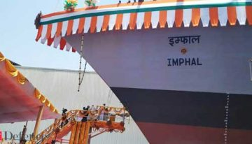 Navy chief launches new guided missile destroyer 'INS Imphal'