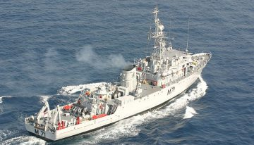 Minesweeper INS Kozhikode sails into sunset