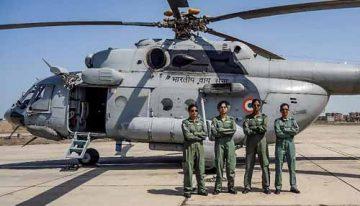 IAF woman crew flies Mi-17 chopper for first time