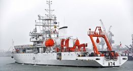 Marine acoustic research ship INS Sagardhwani on a mission leaves Kochi