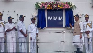 Indian Coast Guard 'Varaha' commissioned by Rajnath Singh