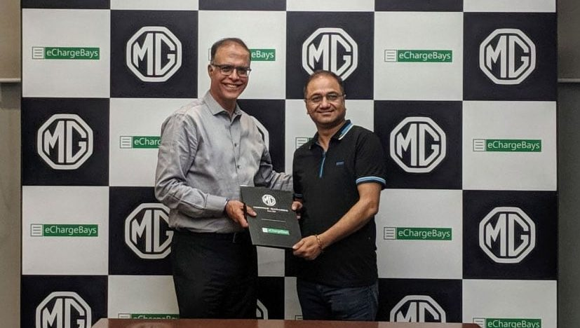 MG Motor India partners eChargeBays for setting up home charging infrastructure for EVs