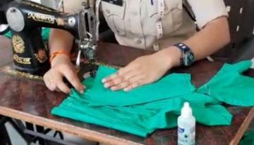 Shrishti Shrotriya MP cop sews face masks after duty for the unprivileged