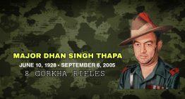 Lieutenant Colonel Dhan Singh Thapa, PVC