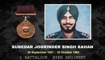 Subedar Joginder Singh Sahnan, PVC