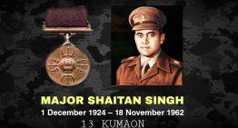 Major Shaitan Singh Bhati, PVC