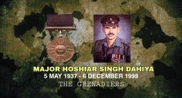 Major Hoshiar Singh , PVC