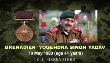 Honorary CaptainGrenadier Yogendra Singh Yadav ,PVC