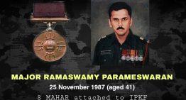 Major Ramaswamy Parameswaran, PVC