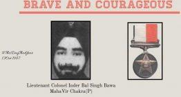 Lt Col Inderbal Singh Bawa, MVC